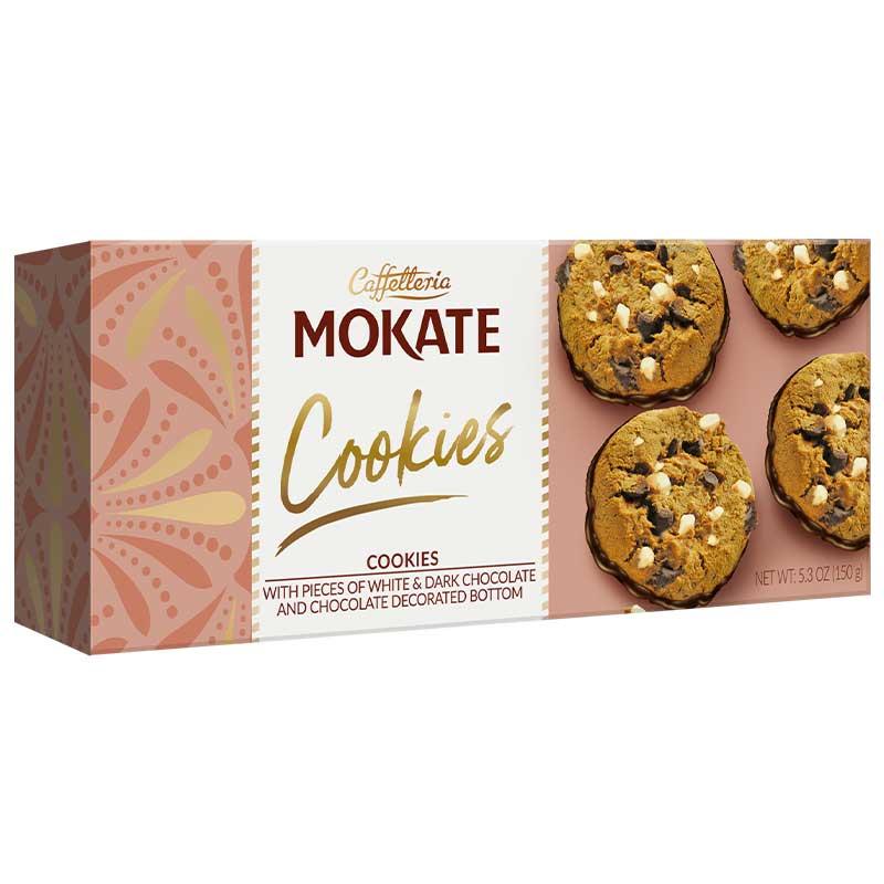 Mokate Cookies White Dark Chocolate