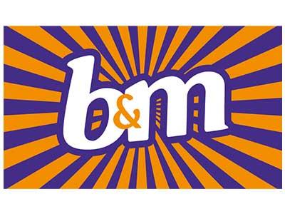 b and m logo