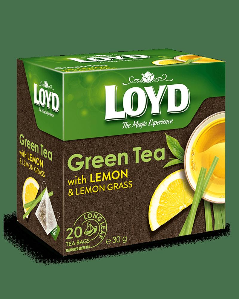 Lloyd Green Tea with Lemon and Lemon Grass Package